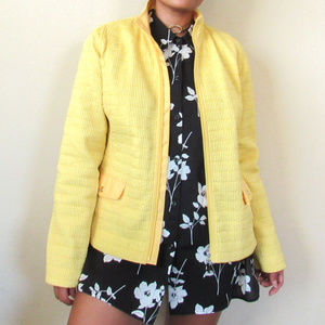 VTG Lightweight Yellow Quilted Jacket Outerwear
